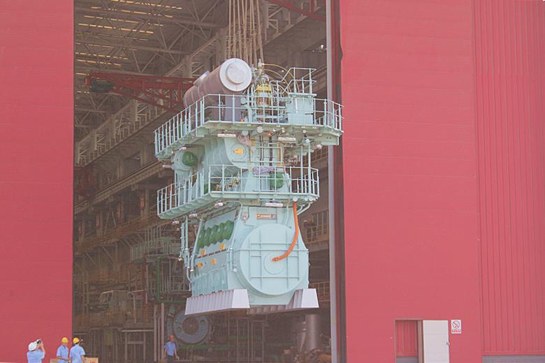 欧宝体育竞猜船动首台5RT-flex50DF双燃料低速发动机成功发运